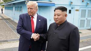 Son dakika... Trump - Kim silahsızlandırılmış bölgede bir araya geldi