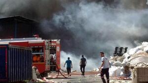 Tekirdağda geri dönüşüm fabrikasında yangın