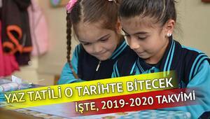 Okullar ne zaman açılacak 2019 yaz tatili ne zaman bitecek
