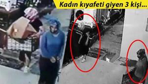 Basma etekli erkek hırsız, iş yerini soyamadan yakalandı