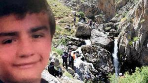 Şelalede selfie çekerken suya düşen Serkanın yeri tespit edildi