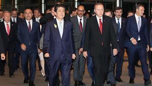Cumhurbaşkanı Erdoğan Japonya Başbakanı Abe ile görüştü