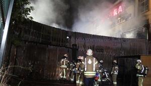Sancaktepede raf fabrikasında yangın