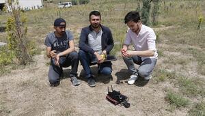 Üniversite öğrencileri mayın arama robotu yaptı