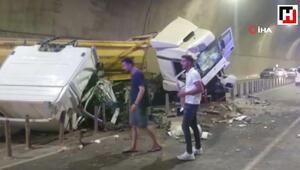Sabiha Gökçen Havalimanı Bağlantı yolunda tünelde feci kaza