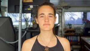 Alman kaptan Carola Rackete serbest