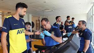 Fenerbahçeli futbolcular laktat testinde