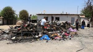 Silopide çıkan yangında 18 kişinin yaşadığı ev küle döndü