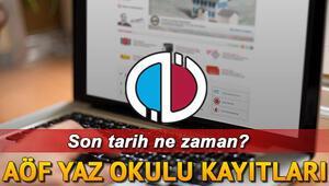 Anadolu Üniversitesi süreyi uzattı AÖF yaz okulu kayıtları ne zaman bitecek