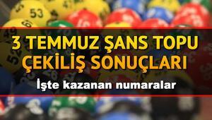 Şans Topunda 555 bin TL sahibini buldu Milli Piyango 3 Temmuz Şans Topu çekiliş sonuçları