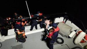 Enezde, lastik botlarda 66 kaçak yakalandı