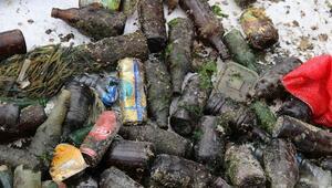 Gemlik Körfezi'nden yüzlerce alkol şişesi çıktı
