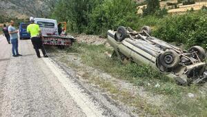 Kastamonuda otomobil devrildi: 5 kişilik aile yaralı