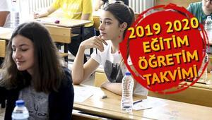MEB 2019 2020 takvimini duyurdu - Okullar ne zaman açılacak