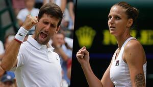 Djokovic ile Pliskova, dördüncü tura yükseldi