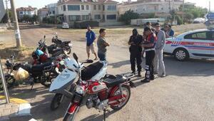 Balıkesirdeki denetimlerde 122 motosiklet trafikten men edildi