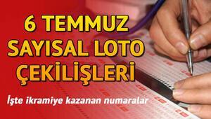Sayısal Loto 6 Temmuz çekiliş sonuçları iki kente 3 milyon kazandırdı