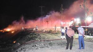 Geri dönüşüm deposundaki yangın 2 saatte söndürüldü