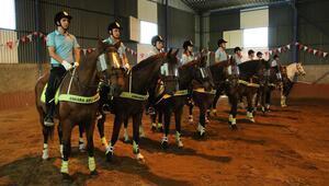 Atlı polisler görev başında