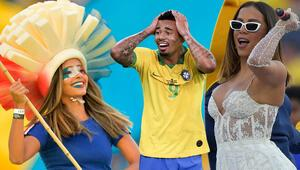 Futbol Karnavalına güzeller damga vurdu Jesus deliye döndü...