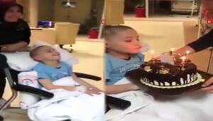Epilepsi hastası Mehmete, sağlıkçılardan doğum günü sürprizi