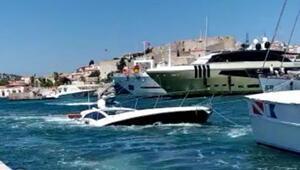 Son dakika... Batığa çarpıp su alan yatın kaptanı ve 5 kişi kurtarıldı