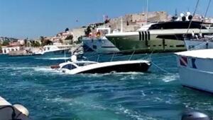 Batığa çarpıp su alan yatın kaptanı ve 5 kişiyi Sahil Güvenlik kurtardı