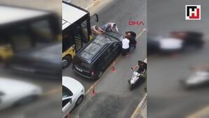 Bağcılarda hatalı park edilen otomobili böyle kenara çektiler