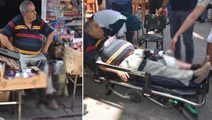 Silah ve av malzemeleri satışı yapan dükkan sahibine silahlı saldırı