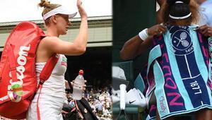 Wimbledonda damga vuran anlar Havlunun altına...