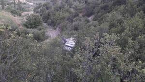 Kontrolden çıkan otomobil 100 metrelik şarampole uçtu