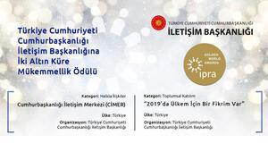Altın Küre Mükemmellik Ödülleri'nde Cumhurbaşkanlığı İletişim Başkanlığına iki ödül
