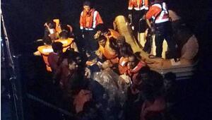 Edirnede, lastik botta 40 kaçak yakalandı
