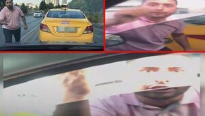 İstanbulda taksici dehşeti Saniye saniye kaydedildi