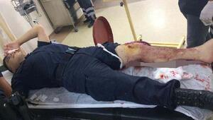 Hastanede kavgayı ayırmak isteyen Jandarma yaralandı