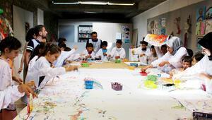 Çocukları sanatla buluşturdular