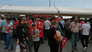 Atatürk Havalimanında 15 Temmuz anma töreni için toplanmalar başladı