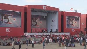 15 Temmuz şehitleri anma programı için Atatürk Havalimanında hazırlıklar tamamlandı