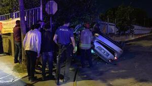 Tuzlada otomobil takla atıp duvara çarptı: 1 ölü