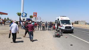 Minibüsle çarpışan motosikletin sürücü öldü