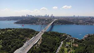 FSM Köprüsü'nde birinci etap tamamlandı Havadan görüntülendi