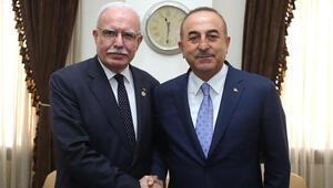 Çavuşoğlu, Filistin Dışişleri Bakanı Riyad el-Maliki ile görüştü