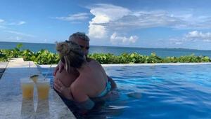 Agüero yeni sevgilisiyle Bahamalarda