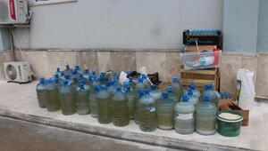 Erbaada bin 400 litre sahte içki ele geçirildi