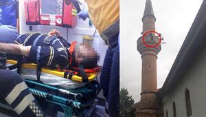 Yer Kırıkkale... İmam minareden düştü