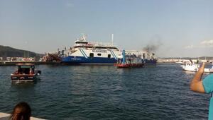 Çanakkalede feribotta korkutan yangın