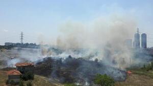 Metris Cezaevi yakınında yangın