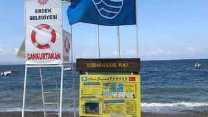 Erdek'te 3 sahile 'Mavi Bayrak'