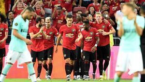 Manchester United, Interi tek golle geçti