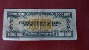 Sahte mi gerçek mi 1 milyon dolarlık banknot ele geçirildi